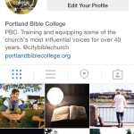 Instagram: @portlandbiblecollege Follow our journey on Instagram for event updates, student highlights and event reminders!